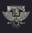 vintage motorcycle repair shop logo vector image vector image