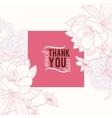 Vintage Pink Square Frame Floral Drawing vector image