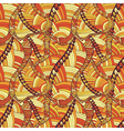 Vintage wave line and curl Hand-drawn pattern vector image vector image