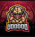 voodoo esport mascot logo vector image vector image