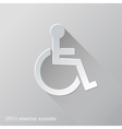 wheelchair accessible flat icon design vector image vector image