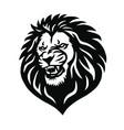wild lion head mascot logo design vector image vector image