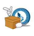 with box bitshares coin character cartoon vector image vector image