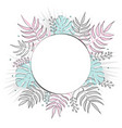 creative summer round template with tropical vector image