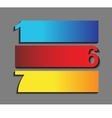 one six seven the of progress icons in t vector image