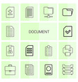 14 document icons vector image vector image