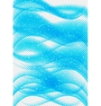 Abstract Blue Wave Set on Transparent Background vector image vector image