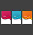 abstract header blue pink orange wave vector image vector image