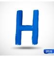 Alphabet Letter H Watercolor Alphabet vector image vector image