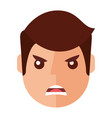 angry young man avatar character vector image