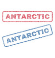 antarctic textile stamps vector image vector image