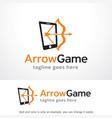 arrow game logo template vector image