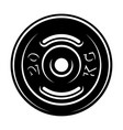 black and white of a barbell disk vector image vector image