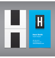business card letter H vector image vector image