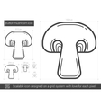 Button mushroom line icon vector image vector image