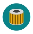 Car oil filter icon flat vector image vector image