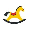 Children rocking horse icon vector image vector image