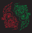Chinese Dragon Oriental Feng Shui vector image