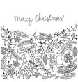 christmas greeting natural sketch background vector image