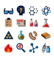 cience icons vector image vector image