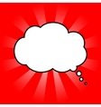 cloud of thoughts in red sun vector image