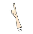 comic cartoon pointing arm vector image vector image