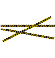 crossed police line tapes for restriction and vector image vector image