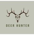 deer skull design template vector image