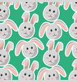 easter bunny cartoon character background vector image vector image