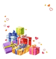 Gifts for Valentines Day watercolor vector image