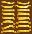 Gold banner ribbon collection vector image vector image