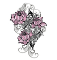 Hand drawn romantic beautiful fish vector image