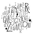 handwritten calligraphy and lettering alphabet vector image vector image