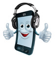 headphones cell phone vector image vector image