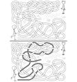 Hopscotch maze vector image vector image