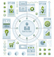 infographics circular concept with lot of vector image vector image