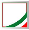 italian flag corner border vector image vector image