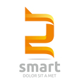letter s combination 2 lettemark design vector image vector image