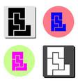 maze flat icon vector image