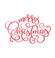 merry christmas red vintage text vector image vector image