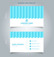 namecard template white color serrated lines vector image vector image