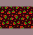 nice pattern with strawberry on purple background vector image vector image