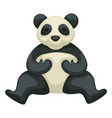 panda bear chinese symbol isolated rare animal vector image