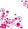 Pink flower Floral background To see similar vector image vector image