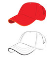 red baseball cap vector image vector image