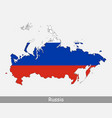 russia flag map vector image