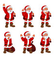 santa claus in different expressions vector image vector image