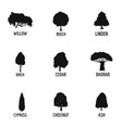sawn wood icons set simple style vector image