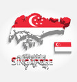 singapore 3d vector image vector image