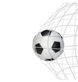 soccer game match goal moment with ball vector image vector image